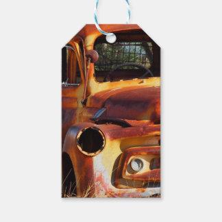 Vintage car gift tag