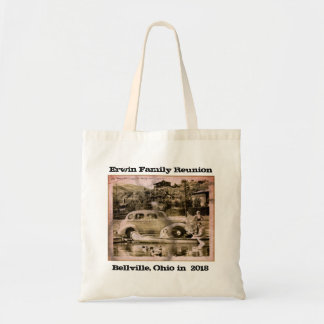 Vintage Car Grungy Family Reunion Tote Bag