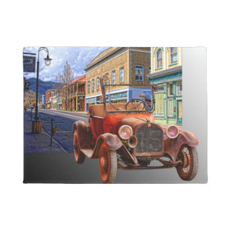 VINTAGE CAR IN YREKA CALIFORNIA DOORMAT