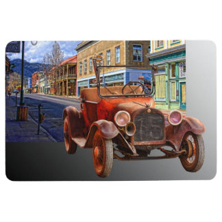 VINTAGE CAR IN YREKA CALIFORNIA FLOOR MAT