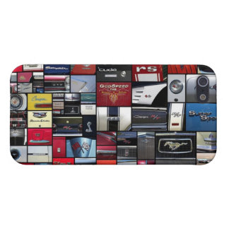 Vintage Car Logos Emblem Quilt iPhone 5/5s Case