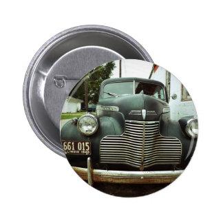 Vintage Car on Route 66 Button