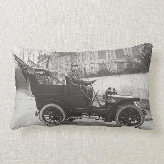 Vintage car rectangular throw pillow