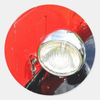 Vintage car round sticker
