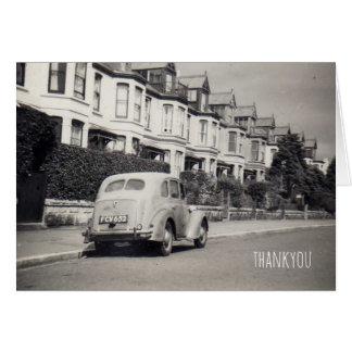 vintage car thankyou card