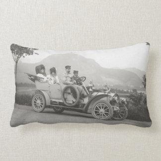 Vintage car throw pillows