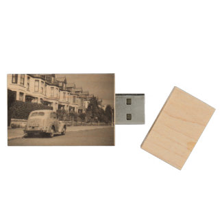 Vintage car usb flash drive wood USB 2.0 flash drive