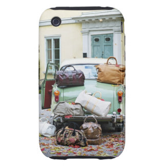 Vintage car with lots of luggage tough iPhone 3 case