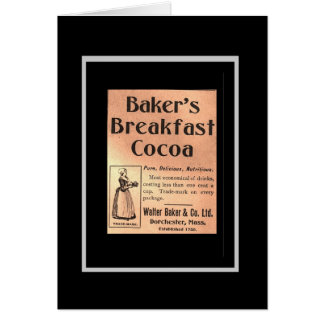 Vintage Card Baker's Breakfast Cocoa Label