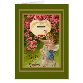Vintage Card Valentine Cupid
