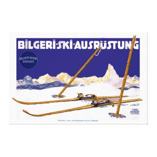 Vintage Carl Kunst Bilgeri Ski Equipment Canvas Print