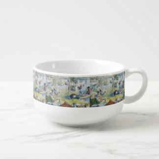 Vintage Carl Larsson Cray Fishing With The  Family Soup Mug