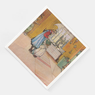 Vintage Carl Larsson The Kitchen Paper Dinner Napkin