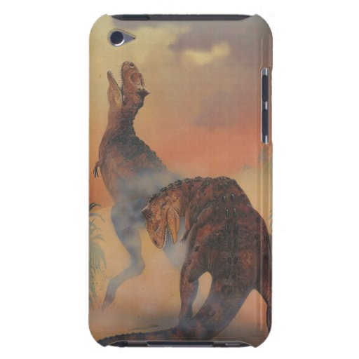Vintage Carnotaurus Dinosaurs Roaring in Jungle iPod Touch Case