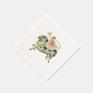 Vintage Carousel Paper Napkin