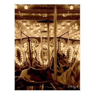Vintage Carousel Postcard
