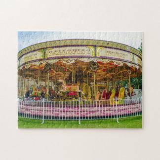 Vintage carousel puzzle