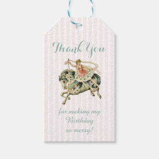 Vintage Carousel Thank You Tag Pack Of Gift Tags