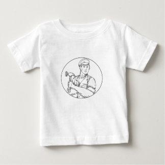 Vintage Carpenter Hammer Mono Line Baby T-Shirt