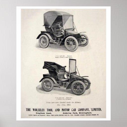 Vintage Cars Advertising Poster