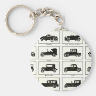 Vintage Cars Basic Round Button Keychain