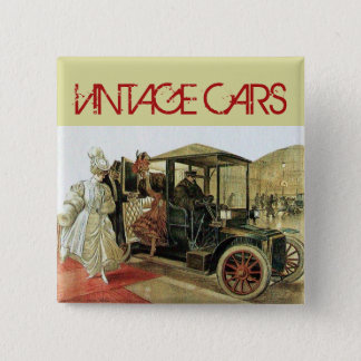 VINTAGE CARS CLASSIC AUTO RESTORATION - AUTOMOTIVE 2 INCH SQUARE BUTTON