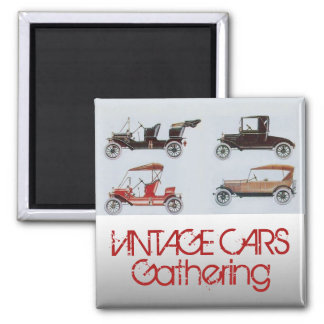 Vintage Cars Gathering Classic Auto Magnet
