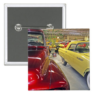 Vintage cars in Tallahassee Automobile Museum 2 Inch Square Button