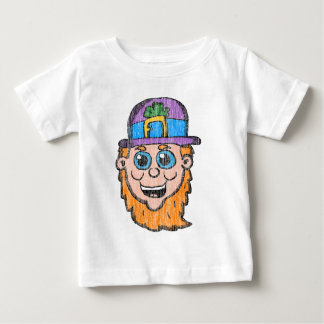 Vintage Cartoon Leprechaun head Baby T-Shirt