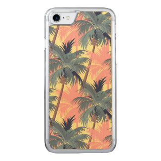 Vintage Cartoon Palm Trees Carved iPhone 8/7 Case