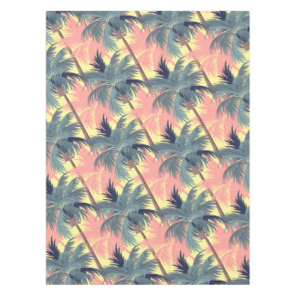Vintage Cartoon Palm Trees Tablecloth