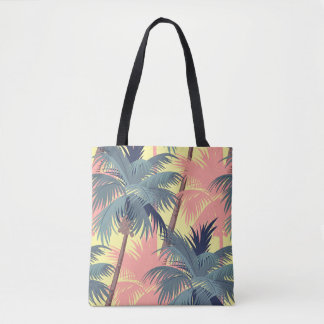 Vintage Cartoon Palm Trees Tote Bag