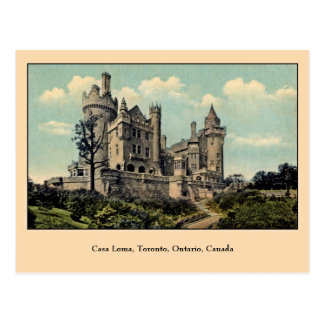 Vintage Casa Loma, Toronto, Canada Postcard