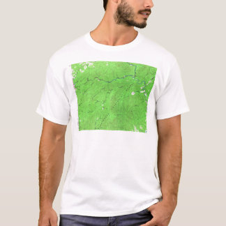 Vintage Cash Hollow Massies Mill Virginia Map T-Shirt