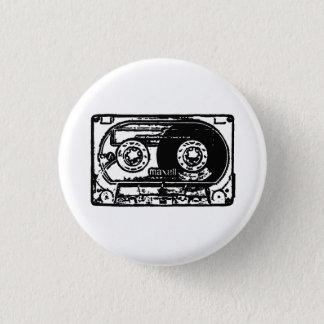 Vintage cassette 1 inch round button