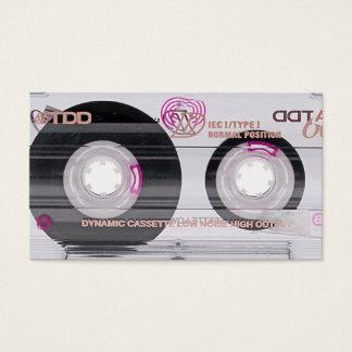 Vintage cassette tape business card