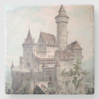 Vintage Castle Art Stone Coaster