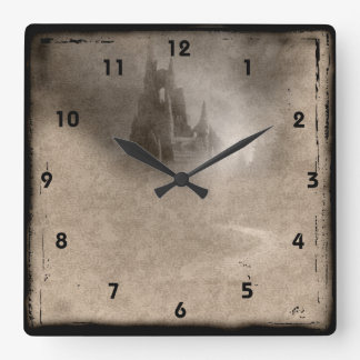 Vintage Castle Steampunk Goth Wall Clock