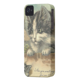 Vintage Cat and Mouse -iPhone 4/4S iPhone 4 Case