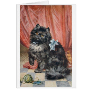 Vintage Cat and Yarn, Card