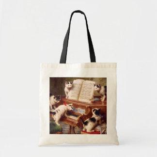 Vintage Cat Art:  Kittens' Recital Tote Bag