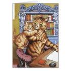 Vintage Cat Card