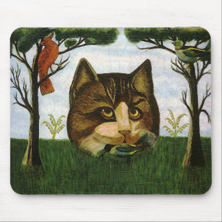 Vintage Cat Head (Cheshire Cat) Mouse Pad