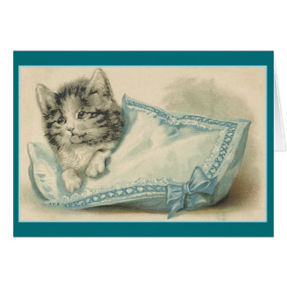 Vintage Cat Note Card