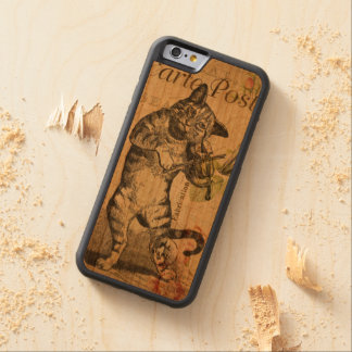 Vintage Cat Playing a Violin Carved Cherry iPhone 6 Bumper Case