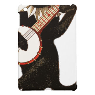 Vintage Cat Playing Banjo iPad Mini Cases