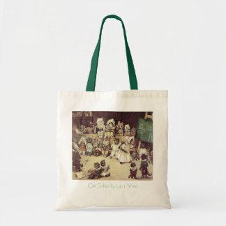 Vintage Cat School Budget Tote Bag