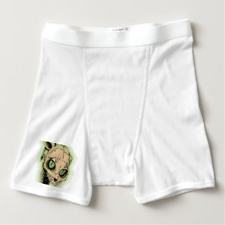 Vintage Cat Skull Boxer Briefs