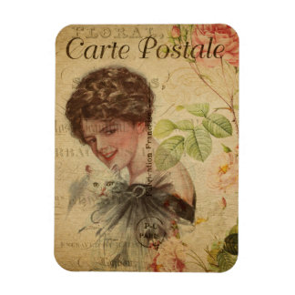 Vintage Cat Theme | Carte Postale | Cat Lady Magnet