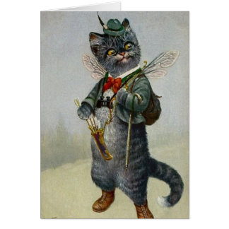 Vintage Cat with Bow & Arrows, Card